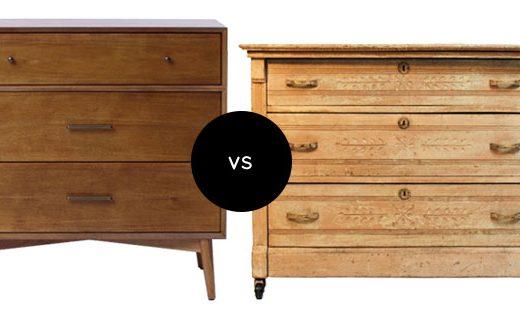 Vintage-Inspired vs. an Antique Dresser