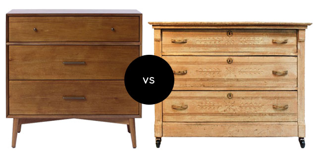 Vintage-Inspired vs. an Antique Dresser