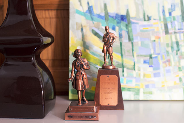 Vintage Scouting Trophies #makingitlovely