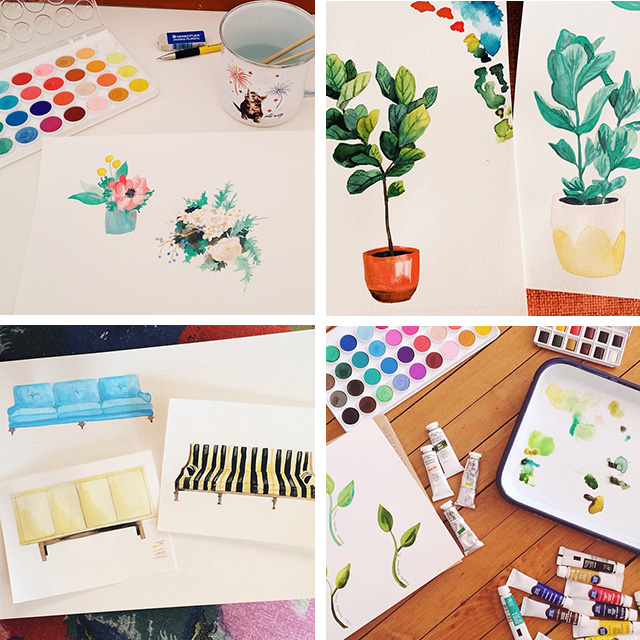 Watercolors, Making it Lovely