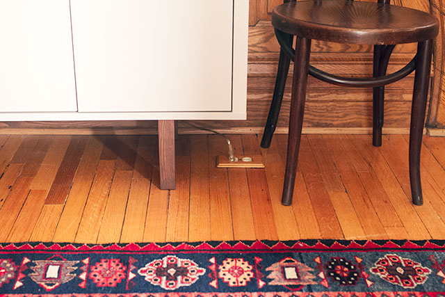 Wooden Outlet Cover on the Floor #makingitlovely