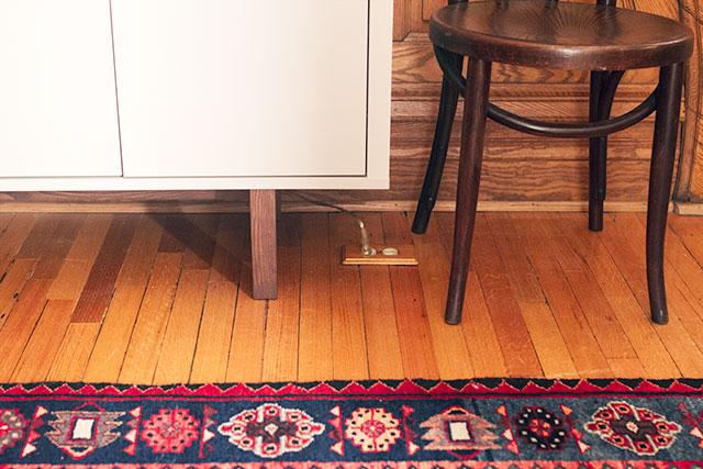 Wooden Outlet Cover on the Floor #makingitlovely