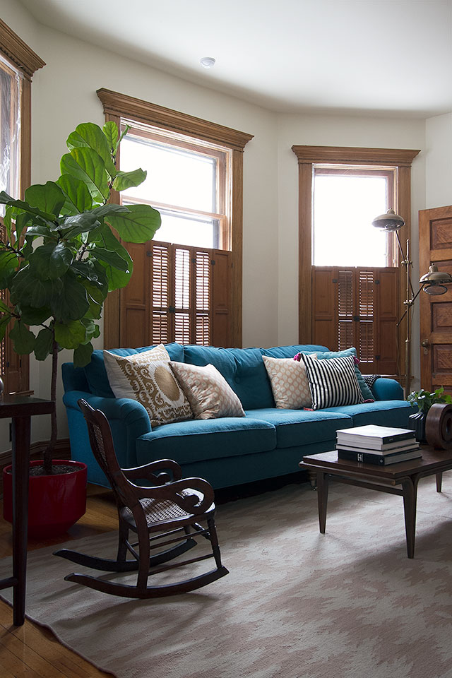 Blue Sofa in the Second Parlor #makingitlovely
