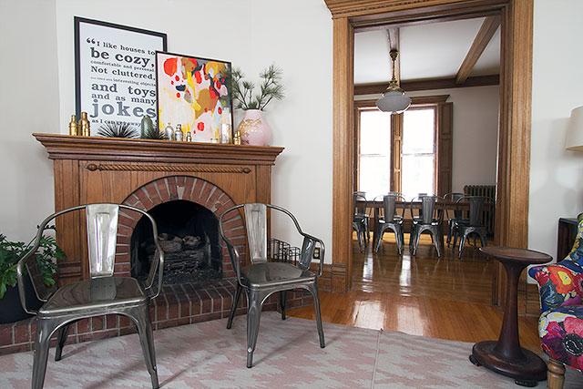 Fireplace and Dining Room #makingitlovely