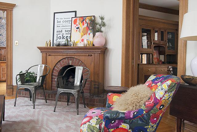 Parlor Fireplace #makingitlovely