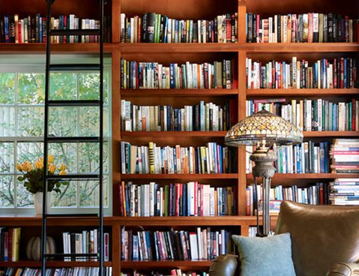 Home Library with Rolling Ladder