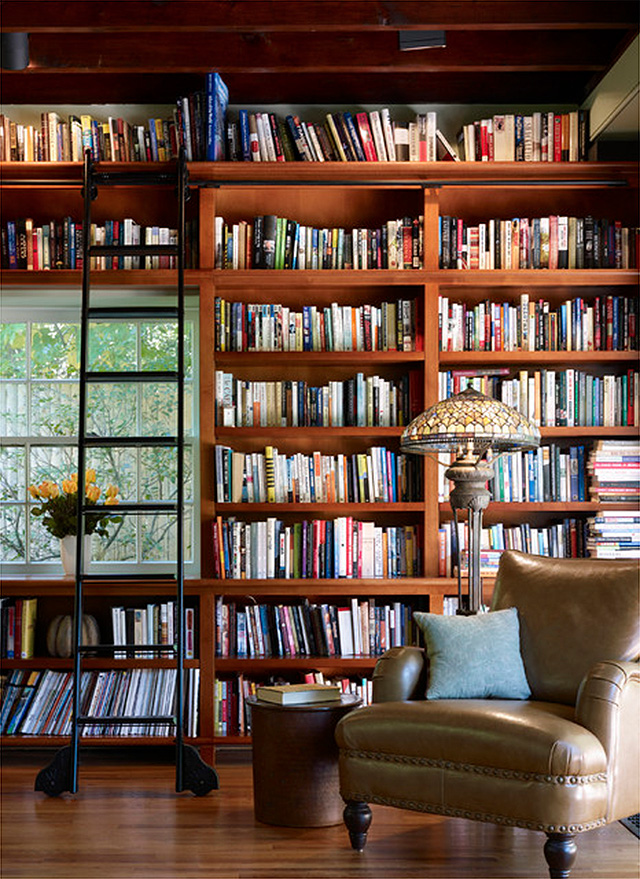 Strange Starting On The Librarys Built In Bookshelves Making It Lovely Largest Home Design Picture Inspirations Pitcheantrous