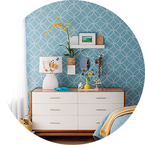 Stenciled Walls as a Wallpaper Alternative