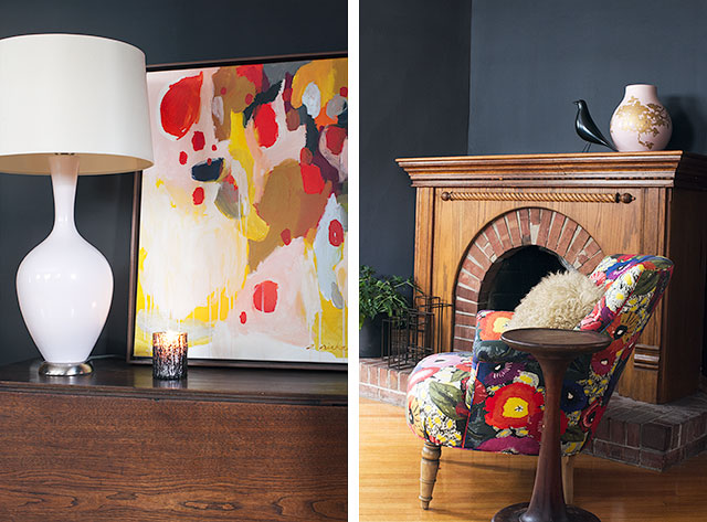 Black Walls and Colorful Accents #makingitlovely