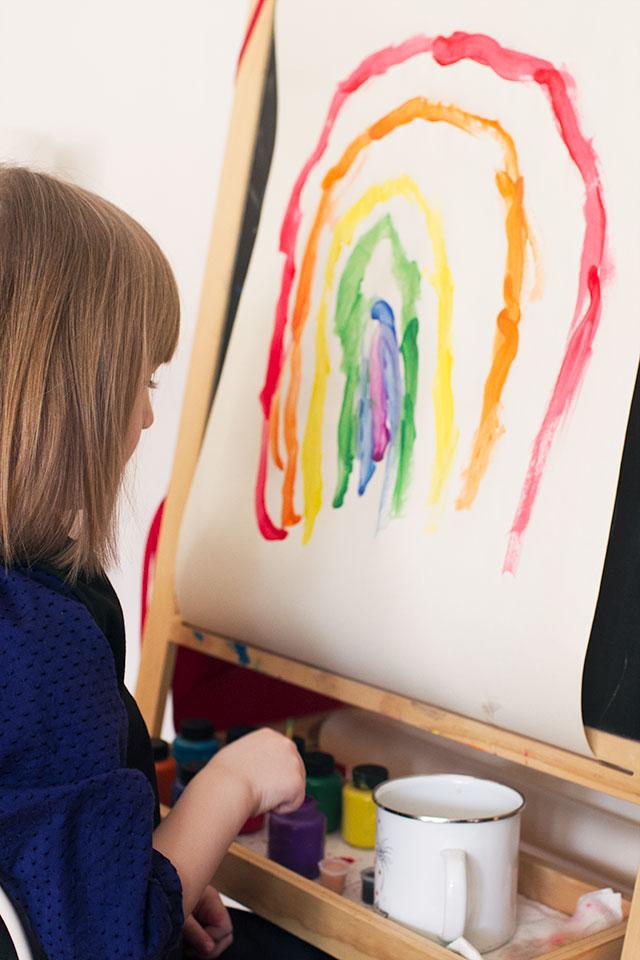 Eleanor, Painting a Rainbow