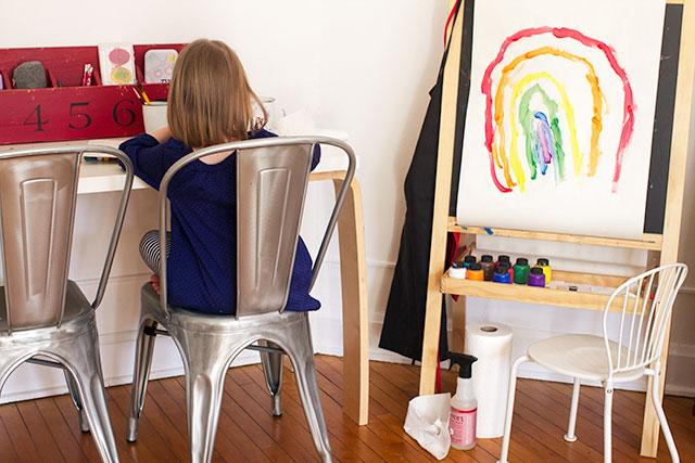 The Playroom Art Center #makingitlovely #mrsmeyers #getmessy