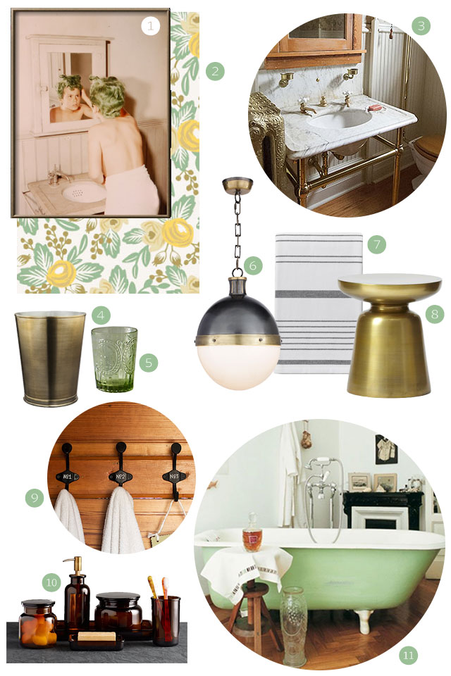 Rifle Paper Co. Hygge and West Wallpaper Bathroom Design #makingitlovely