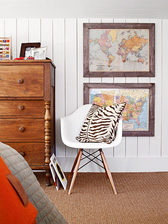 Antique and Vintage Touches in a Kids' Room
