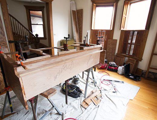 Cabinet Being Built #makingitlovely