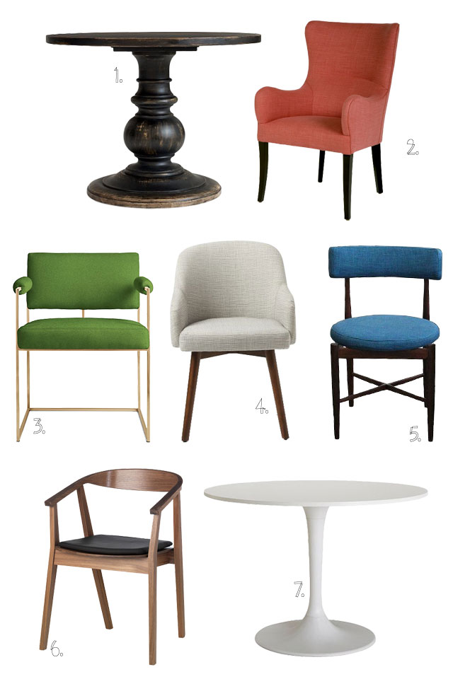 Chairs and Round Tables #makingitlovely