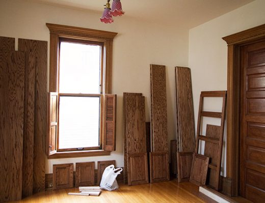 Oak for Built-in Bookshelves