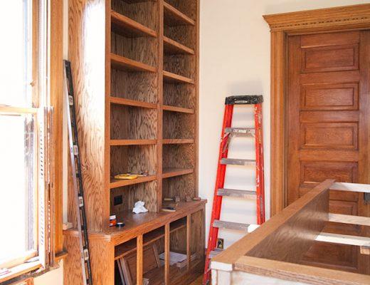 Built-in Bookshelves in Progress