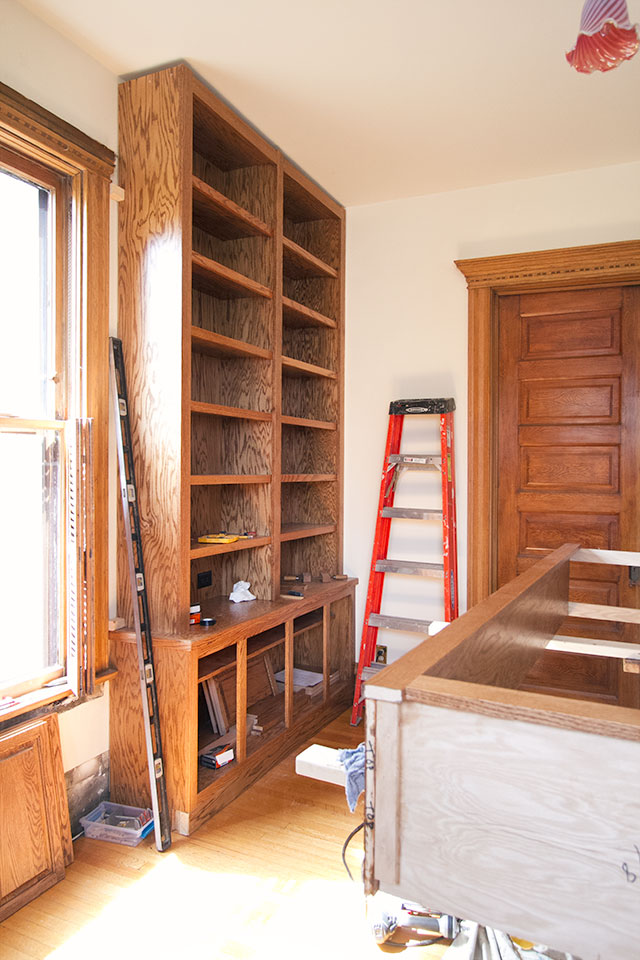 Built-in Bookshelves in Progress