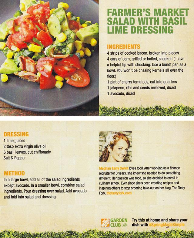 Farmer's Market Salad, by Meghan Swint for The Home Depot #SpringMadeSimple Garden Party