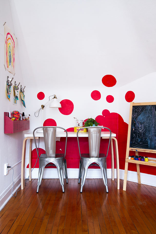 Accent Wall in the Playroom #makingitlovely
