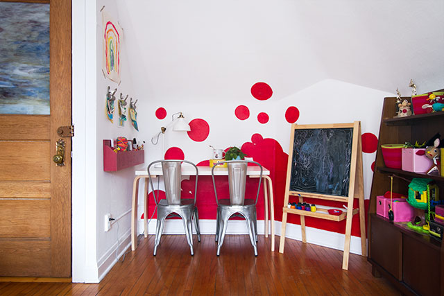 Playroom Accent Wall #makingitlovely