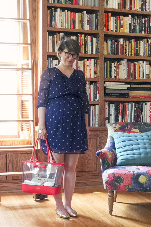 Polka Dot Dress, Kate Spade Bag