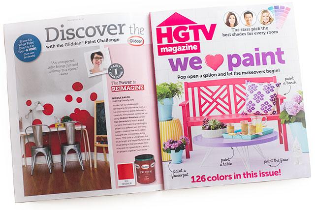 Making it Lovely  for Glidden in the June 2014 issue of HGTV Magazine