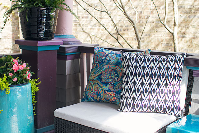 Planters and Outdoor Pillows