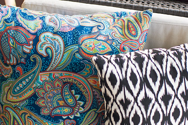 Paisley Outdoor Pillow