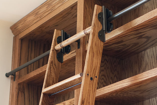 Rolling Library Ladder Hardware