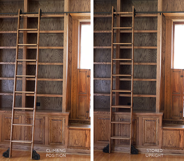 Rolling Library Ladder from Custom Service Hardware