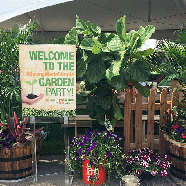 #SpringMadeSimple Home Depot Garden Party