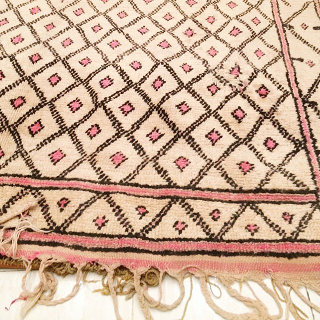 Pink Rug from Morocco