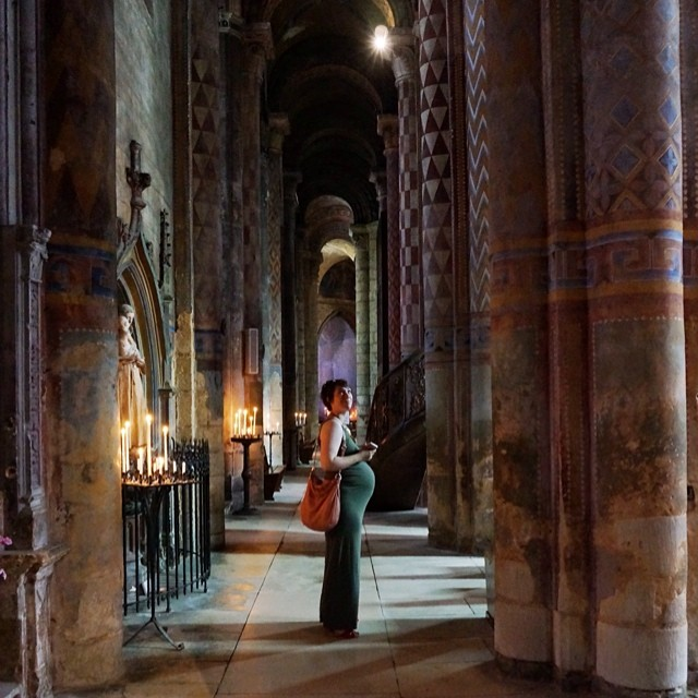 Nicole Balch, in a Cathedral in Poitiers, France