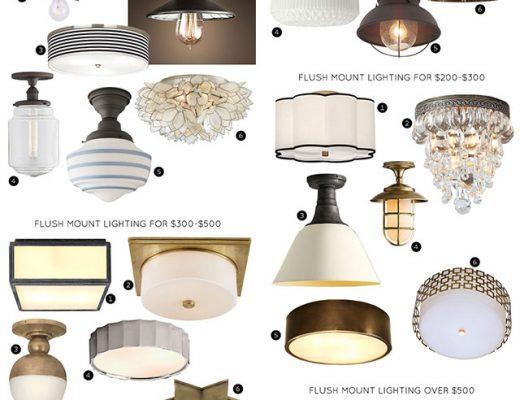The 30 Best Flush Mount Lighting Fixtures