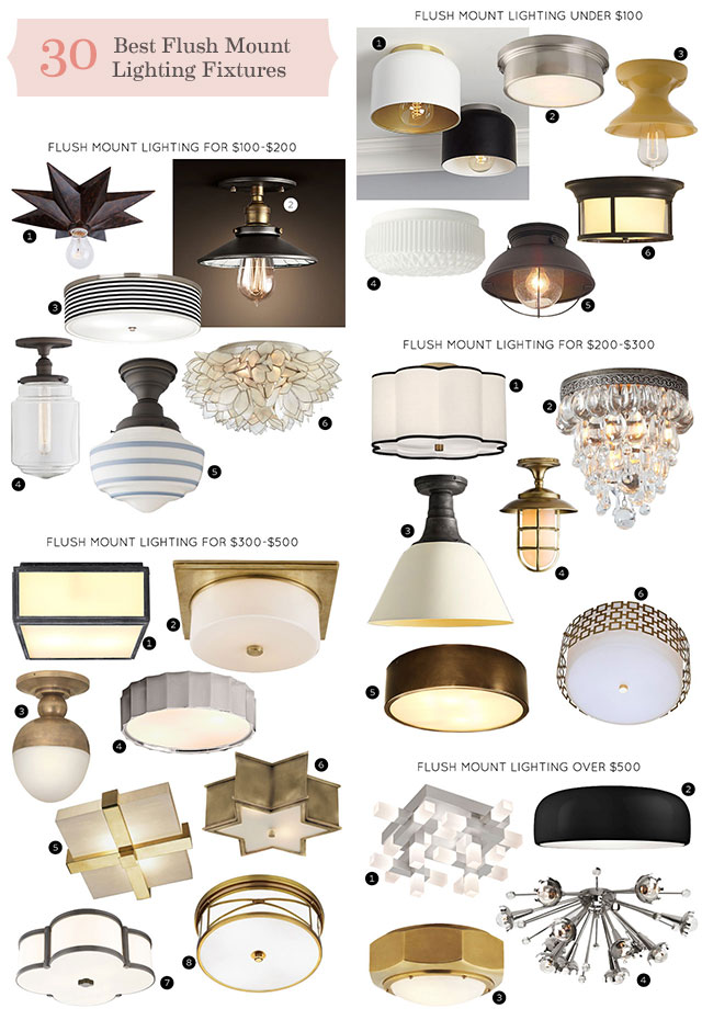 The Best Flush Mount Lighting Fixtures Making It Lovely - Best light fixtures for bedrooms