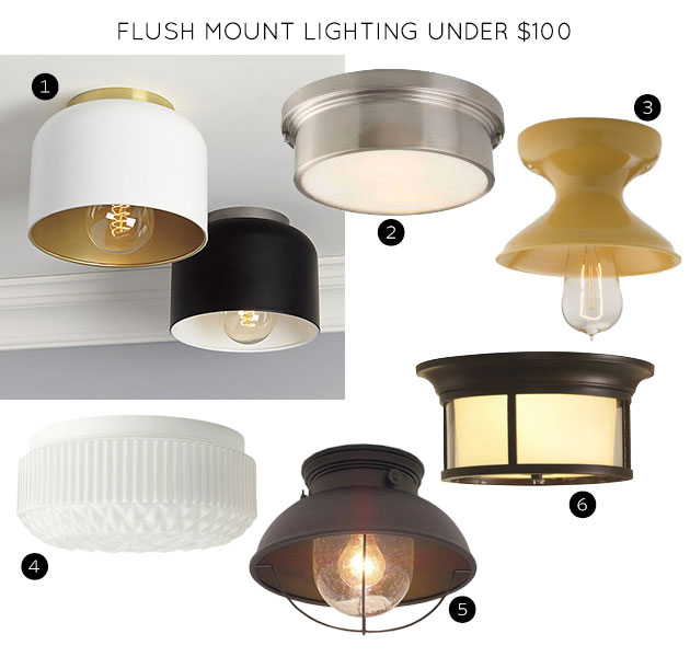 Flush Mount Lighting Fixtures Under $100