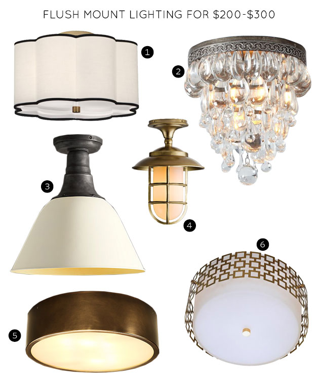 Flush Mount Lighting Fixtures for $200-$300