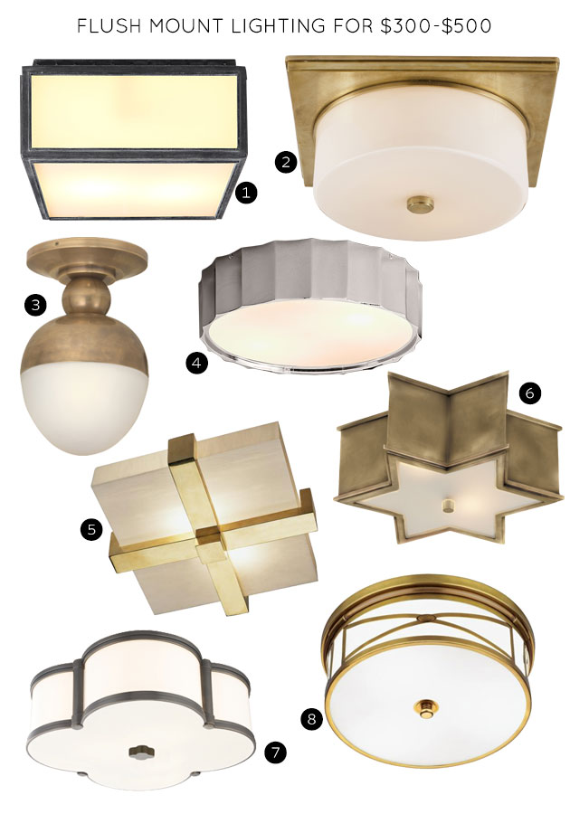 Flush Mount Lighting Fixtures for $300-$500