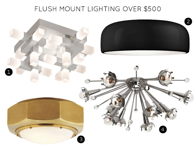 Flush Mount Lighting Fixtures Over $500