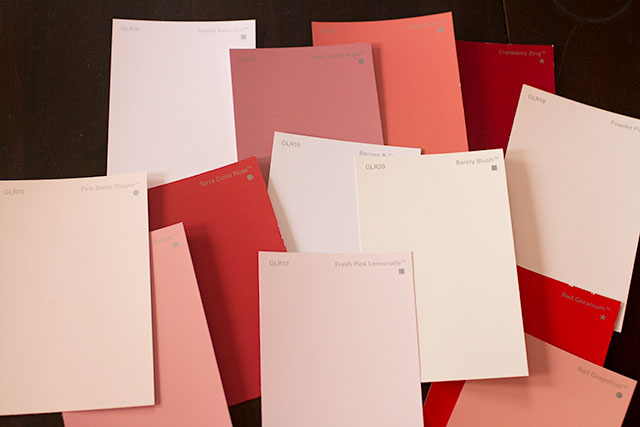 Red and Pink Paint Colors from Glidden