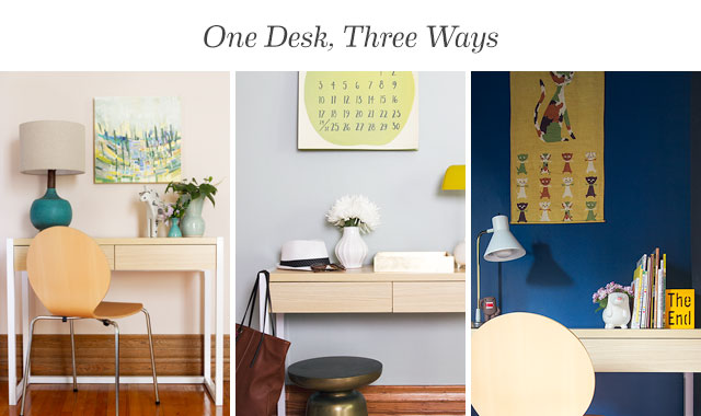 One Desk from Target, Three Different Ways on Making it Lovely