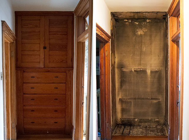 Removing the Hallway's Built-in Storage