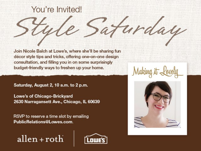 Style Saturday Invitation