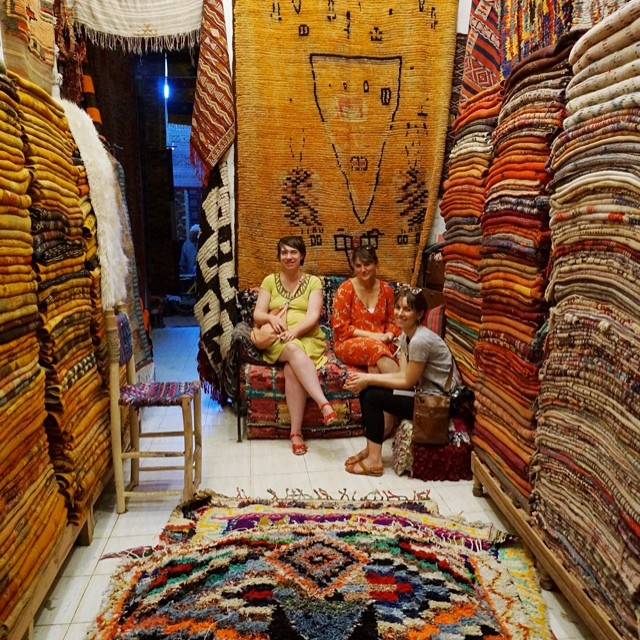 Rug Shopping in Marrakech, Morocco