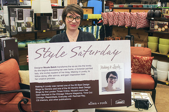 Style Saturday Event at Lowe's