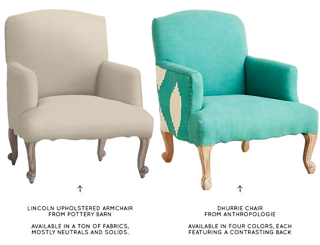 Lincoln and Dhurrie Chairs