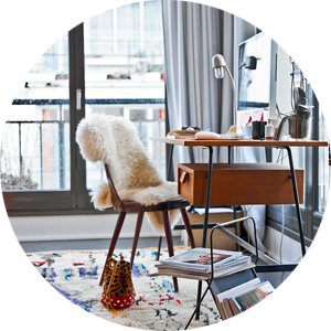 Get the Look: Constance and Laurent's Office