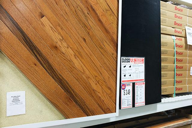Bruce Hardwood Flooring, Oak Gunstock, at Floor & Decor