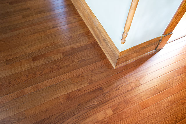 Bruce Hardwood Flooring in Gunstock Oak, from Floor & Decor